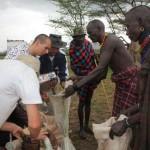 Lebensmittelverteilung in Orum