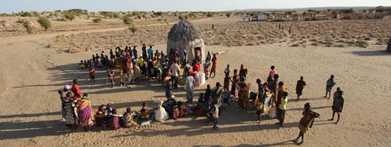 Essenverteilung im Turkana-Gebiet