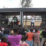 Unsere Bühne in den Slums