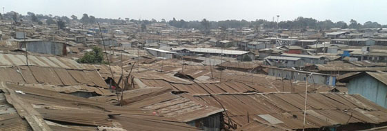 the roofs of Kibera...