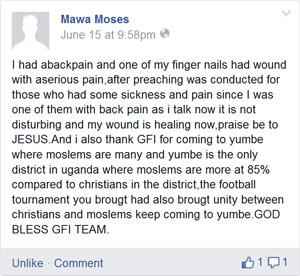 Zeugnis Moses