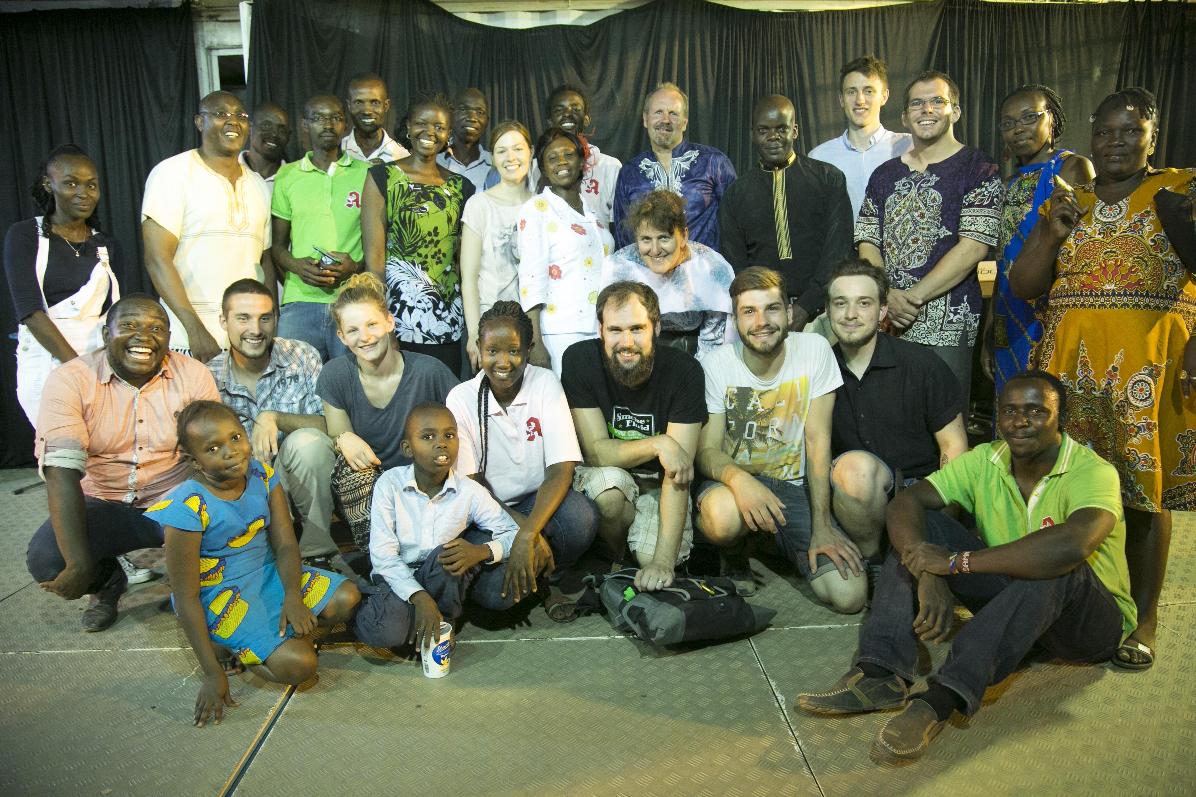 Das Team, das die Evangelisation möglich gemacht hat.